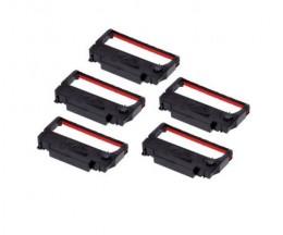 5 Cintas Compatibles, Epson ERC-38BK / R Negro / Rojo