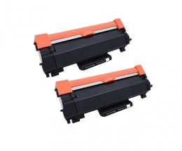 2 Cartuchos de Toner Compatibles, Brother TN-2410 / TN-2420 Negro ~ 3.000 Paginas