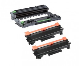1 Tambor de imagen Compatible Brother DR-2400 ~ 12.000 Paginas + 2 Cartuchos de Toner Compatibles, Brother TN-2410 / TN-2420 Negro ~ 3.000 Paginas
