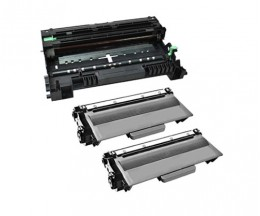 1 Tambor Compatible Brother DR-3300 ~ 30.000 Paginas + 2 Cartuchos de Toner Compatibles Brother TN-3380 Negro ~ 8.000 Paginas