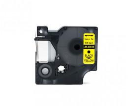 Cinta Compatible DYMO 43618 Negro / Amarillo 6mm x 7m