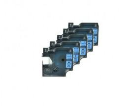5 Cintas Compatibles, DYMO 45016 Azul 12mm x 7m