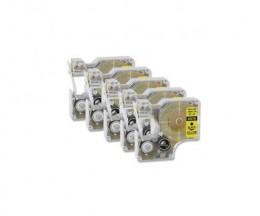5 Cintas Compatibles, DYMO 45018 Amarillo 12mm x 7m