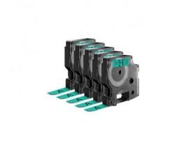 5 Cintas Compatibles, DYMO 45019 Verde 12mm x 7m