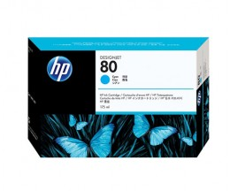 Cartucho de Tinta Original HP 80 Cyan 175ml ~ 2.200 Paginas