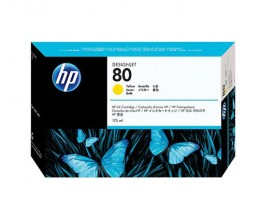 Cartucho de Tinta Original HP 80 Amarillo 175ml ~ 2.200 Paginas