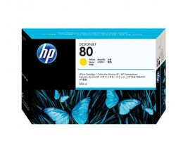 Cartucho de Tinta Original HP 80 Amarillo 350ml ~ 4.400 Paginas