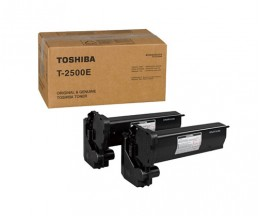2 Cartuchos de Toneres Originales, Toshiba T 2500 E Negro ~ 7.500 Paginas