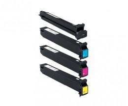 4 Cartuchos de Toneres Compatibles, Konica Minolta A0TMX50 Negro + Cor ~ 45.000 / 30.000 Paginas