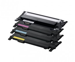 4 cartuchos de toneres Compatibles, Samsung 406S Negro + Colores ~ 1.500 / 1.000 Pages