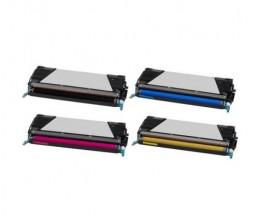 4 Cartuchos de Toneres Compatibles, Lexmark C734A1 ~ 8.000 / 6.000 Paginas