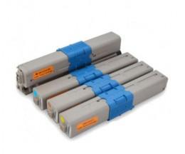 4 Cartuchos de Toneres Compatibles, OKI 44469803 Negro + 4446970X Colores ~ 3.500 / 2.000 Paginas