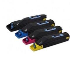 4 Cartuchos de Toneres Compatibles, Kyocera TK 855 Negro + Colores ~ 25.000 / 18.000 Paginas