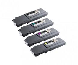 4 Cartuchos de Toneres Compatibles, DELL 5931111X Negro + Colores ~ 11.000 / 9.000 Paginas