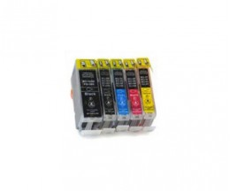 5 Cartuchos de tinta Compatibles, Canon BCI-3 / BCI-6 / BCI-5 Negro 26.8ml + Colores 13.4ml