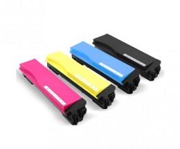 4 Cartuchos de Toneres Compatibles, Kyocera TK 560 Negro + Colores ~ 12.000 / 10.000 Paginas
