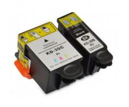 2 Cartuchos de tinta Compatibles, Kodak 3952355 Negro 16ml + Colores 40ml