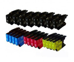 20 Cartuchos de tinta Compatibles, Brother LC-1220 / LC-1240 / LC-1280 Negro 32.6ml + Colores 16.6ml