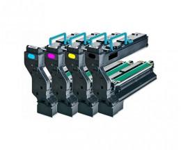 4 Cartuchos de Toneres Compatibles, Konica Minolta 4539X32 Negro + Colores ~ 6.000 Paginas
