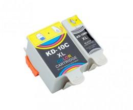 2 Cartuchos de tinta Compatibles, Kodak 3949948 Negro 15ml + Colores 60ml