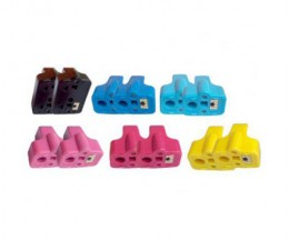 12 Cartuchos de tinta Compatibles, HP 363 Negro 30ml + Colores 10ml