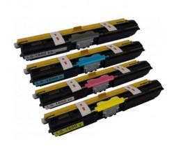 4 Cartuchos de Toneres Compatibles, Konica Minolta A0V30XH Negro + Colores ~ 2.500 Paginas