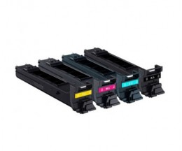 4 Cartuchos de Toneres Compatibles, Konica Minolta A0DKX52 Negro + Colores ~ 8.000 Paginas