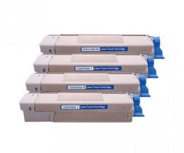 4 Cartuchos de Toneres Compatibles, OKI 4386572X ~ 6.000 Paginas