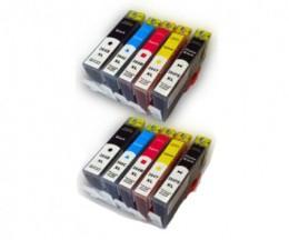 10 Cartuchos de tinta Compatibles, HP 364 XL Negro 18.6ml + Colores 14.6ml