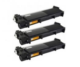 3 Cartuchos de Toneres Compatibles, Brother TN-2320 Negro ~ 2.600 Paginas