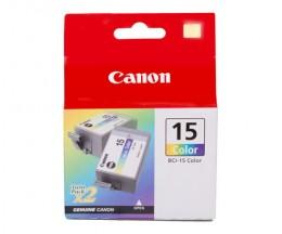2 Cartuchos de tinta Originales, Canon BCI-15 Colores 7.5ml