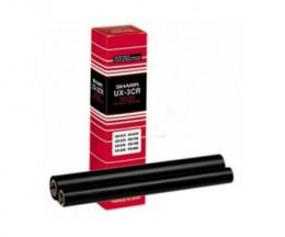 2 Rollos de transferencia termica Original Sharp UX3CR Negra ~ 190 Paginas