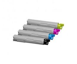 4 Cartuchos de Toneres Compatibles, OKI 43459324 / 43459369 / 43459370 / 43459371 Negro + Colores ~ 2.500 Paginas