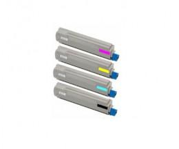 4 Cartuchos de Toneres Compatibles, OKI 4405921X Negro + Colores ~ 10.000 Paginas