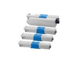 4 Cartuchos de Toneres Compatibles, OKI 44469814 Negro + 4446974X Colores ~ 5.000 Paginas