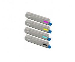 4 Cartuchos de Toneres Compatibles, OKI 4484450X Negro + Colores ~ 10.000 Paginas