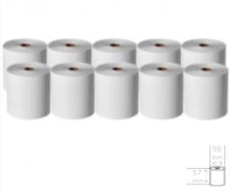 10 Rollos de Papel Térmico 57x50x11mm