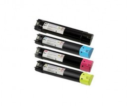 4 Cartuchos de Toneres Compatibles, DELL 593BBCB-593BBCX Negro + Colores ~ 18.000 / 12.000 Paginas