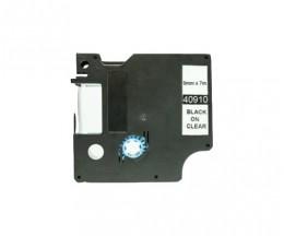Cinta Compatible DYMO 40910 Negro 9mm x 7m
