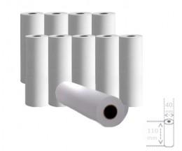 10 Rollos de Papel Térmico 110x40x11mm
