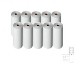 10 Rollos de Papel Térmico 80x40x11mm