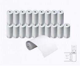 20 Rollos de Papel Térmico 57x25x8mm