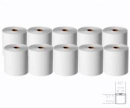 10 Rollos de Papel Térmico 57x60x11mm