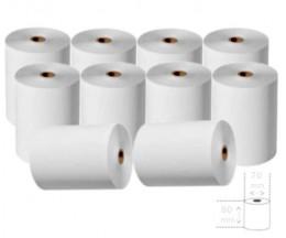 10 Rollos de Papel Térmico 80x70x11mm
