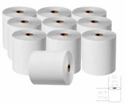 10 Rollos de Papel Térmico 80x80x11mm