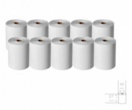 10 Rollos de Papel Térmico 57x45x11mm