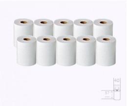 10 Rollos de Papel Térmico 57x40x11mm