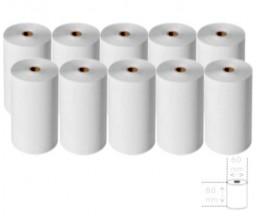 10 Rollos de Papel Térmico 80x60x11mm