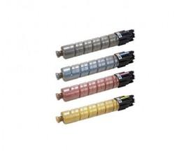 4 Cartuchos de Toneres Compatibles, Ricoh 84116X Negro + Colores ~ 23.000 / 17.000 Paginas