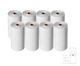 8 Rollos de Papel Térmico 80x55x12mm